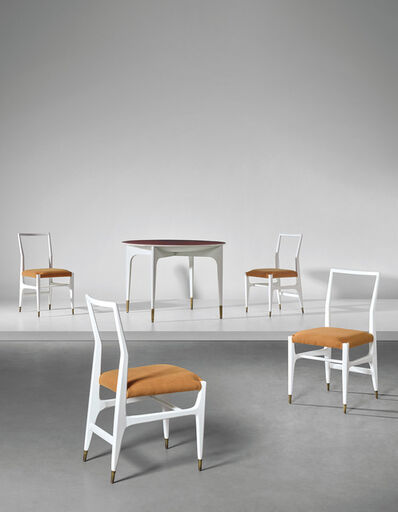 Gio Ponti, 'Rare dinette table and set of four side chairs', circa 1950