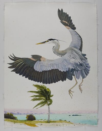 Scott Kelley (b. 1963), 'Great Blue Heron, Palm Beach', 2020