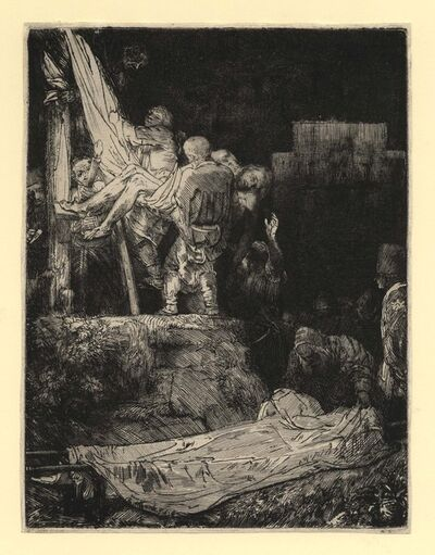 Rembrandt van Rijn, 'Descent from the Cross by Torchlight', 1654