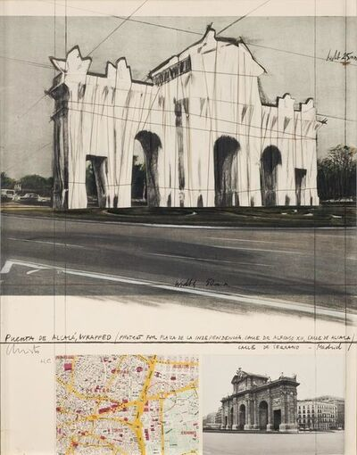 Christo, 'Puerta de Alcala, Wrapped, Project for Madrid', 1981