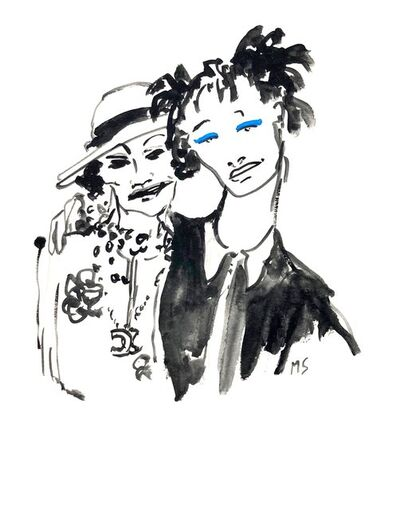 manuel santelices, 'Coco Chanel and Willow Smith', 2016