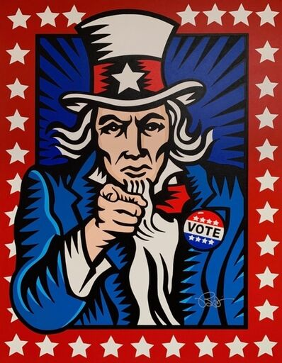 Burton Morris, 'Vote! (Red)', 2020