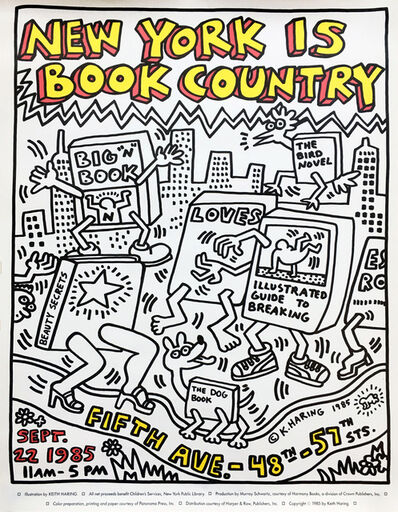 Keith Haring, 'Keith Haring New York Is Book Country ', 1985