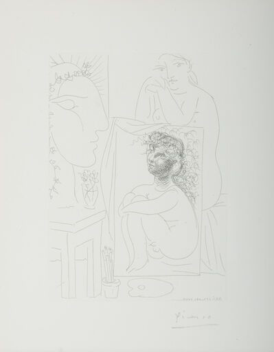 Pablo Picasso, 'Seated Nude with Painting and Sculptured Head (Vollard Suite, B.151)', 1939