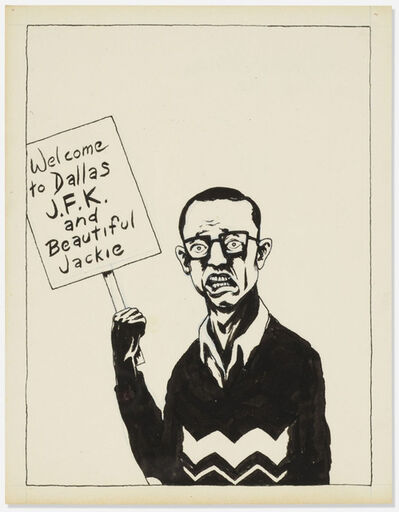 Raymond Pettibon, 'Untitled (Welcome to Dallas)', 1982