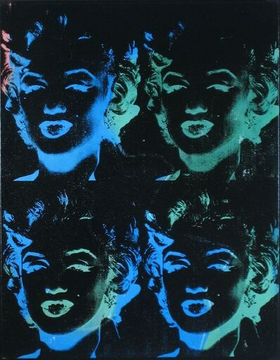 Andy Warhol, 'Four Multicolored Marilyns (Reversal Series)', 1979-1986