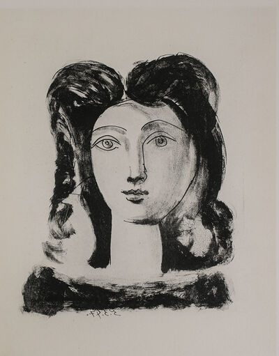 Pablo Picasso, 'Tete De Jeune Fille (Youth's Head), 1949 Limited edition Lithogrph by Pablo Picasso', 1949