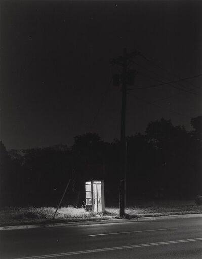 George A. Tice, 'Telephone Booth, 3 A.M., Rahway', 1974