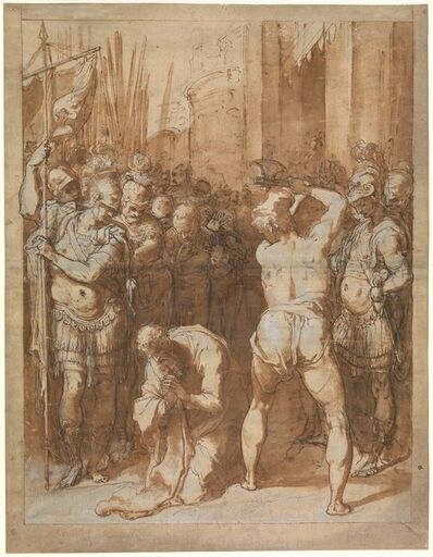 Taddeo Zuccaro, 'The Martyrdom of Saint Paul', ca. 1557–1558