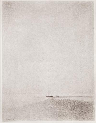 Gunnar Norrman, 'Strandmotiv med bat (Beach Scene with Boat)', 1981