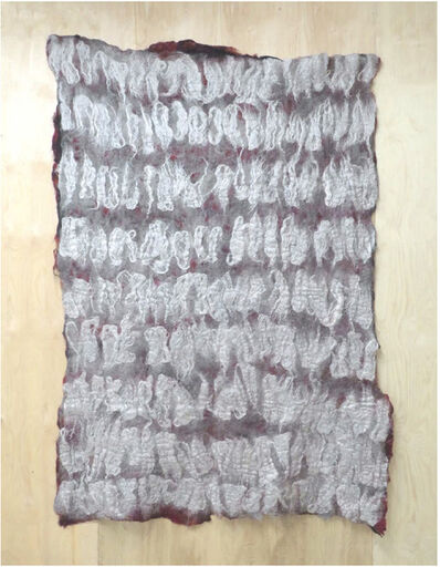 Claudy Jongstra, 'Gray Rythmn', 2017