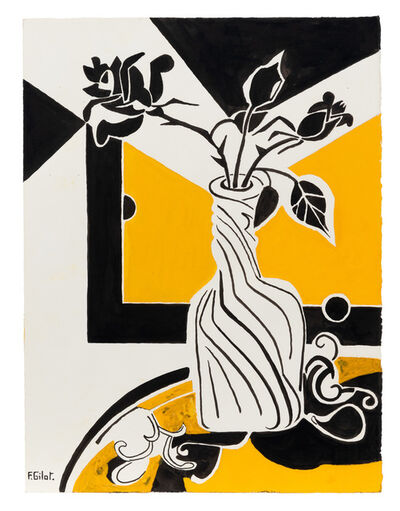 Françoise Gilot, 'Yellow Rose', 1973