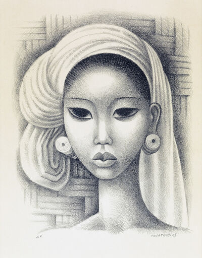 Miguel Covarrubias, 'Head of a Balinese Girl.', circa 1930