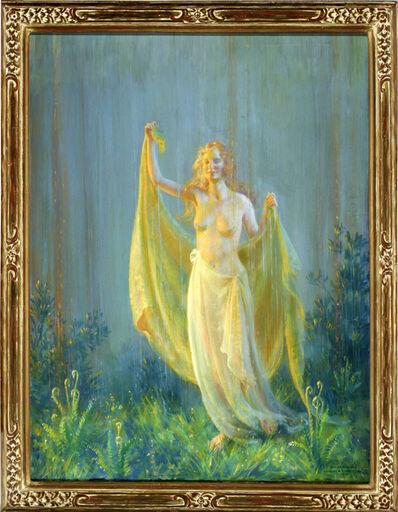 Charles Courtney Curran, 'Sunshine and Rain, Nude woman in the Rain', 1930