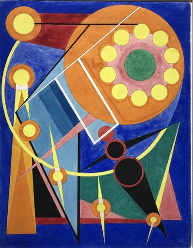Auguste Herbin, 'Le soleil et les planètes', 1941