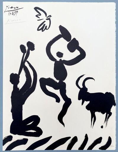 Pablo Picasso, 'Musicien, danseur, chèvre et oiseau', 1959
