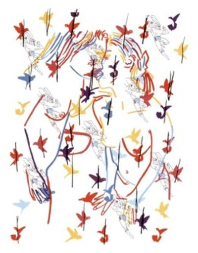 Ghada Amer, 'Superman and the Birds', 2002