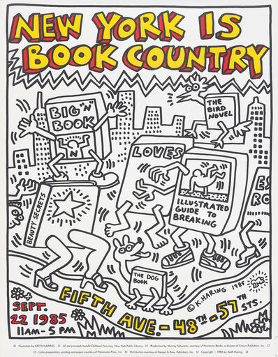 Keith Haring, 'New York is Book Country.', 1985