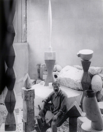 Edward Steichen, 'Constantin Brâncuși in his studio, Paris', 1927