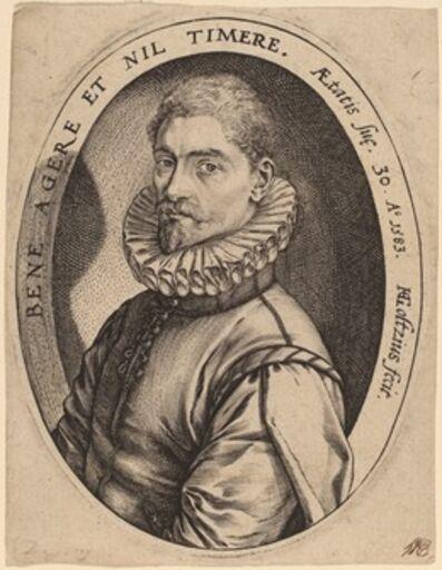 Hendrik Goltzius, 'Hieronymus Scholiers', 1583