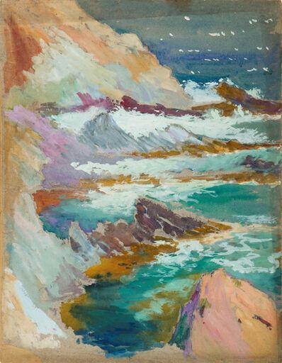 Gertrude Beals Bourne, 'Waves and Rocks', ca. 1925