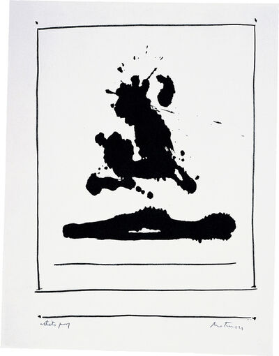 Robert Motherwell, 'New York International: Untitled', 1966