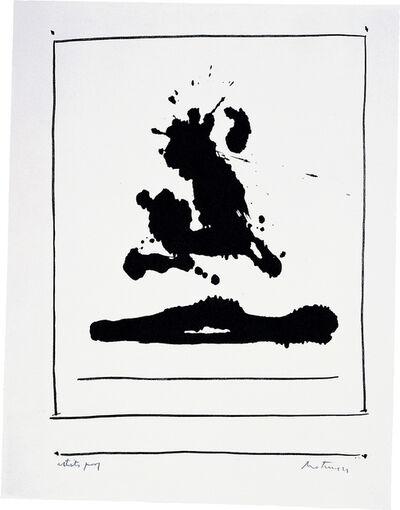 Robert Motherwell, 'New York International: Untitled', 1966