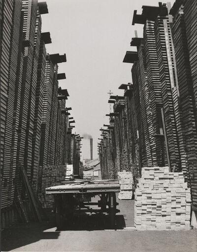 François Kollar, 'Sans titre [Emplacement de traverses, usine Cima, Croix, Nord', ca. 1954