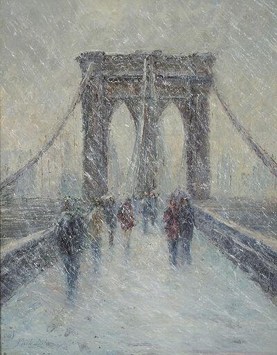 Mark Daly, 'Brooklyn Bridge in Snow', 2017