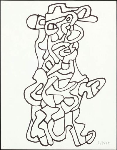 Jean Dubuffet, 'Personnage', 1965