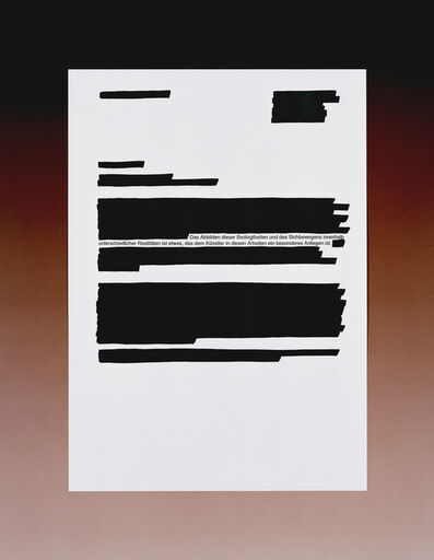 Claudia Angelmaier, 'Text I', 2012