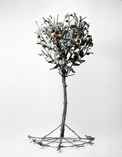 Alik Cavaliere, 'Mezzo albero con mele e pera', 1971