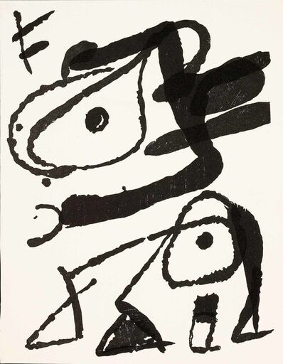 Joan Miró, 'Untitled (D.1296, Miro Graveur Volume IV)'