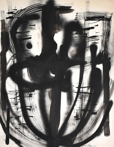 Dusti Bongé, 'Untitled (Black Abstract)', 1956