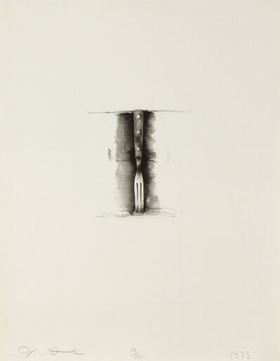 Jim Dine, 'Ten Winter Tools (Fork)', 1973
