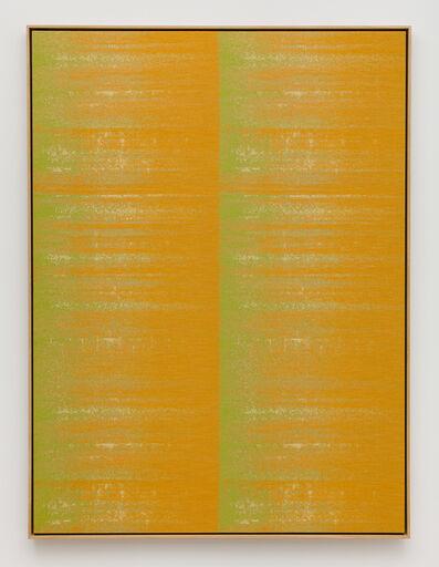 Mika Tajima, 'Negative Entropy (Bally Ribbon Mills, Shuttle Loom, Orange, Quad)', 2015