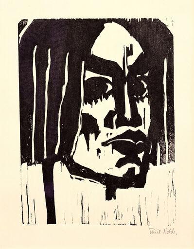 Emil Nolde, 'Frauenkopf', 1912