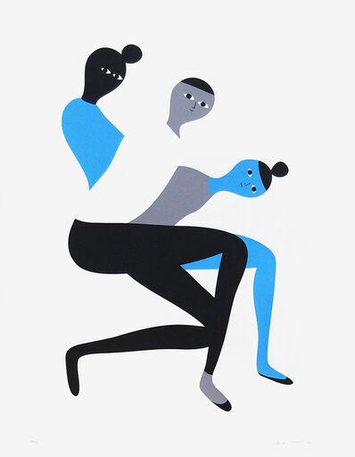 Santiago Salvador Ascui, 'Serigrafia Azul', 2016