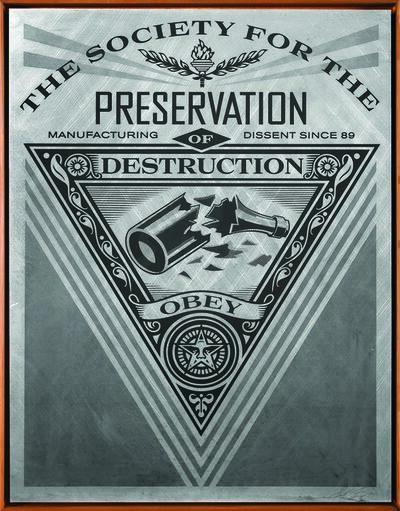Shepard Fairey, 'Society of Destruction', 2015