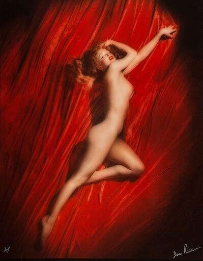 Tom Kelley, 'Marilyn Monroe on Red Velvet, Pose #2', 1949