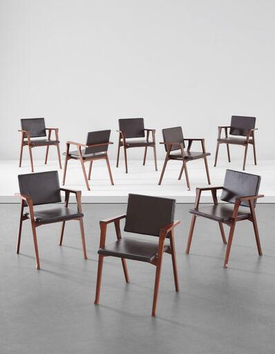 "Franco Albini, 'Eight ""Luisa"" armchairs', 1950s"