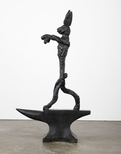 Barry Flanagan, 'Large Boxing Hare on Anvil', 1984