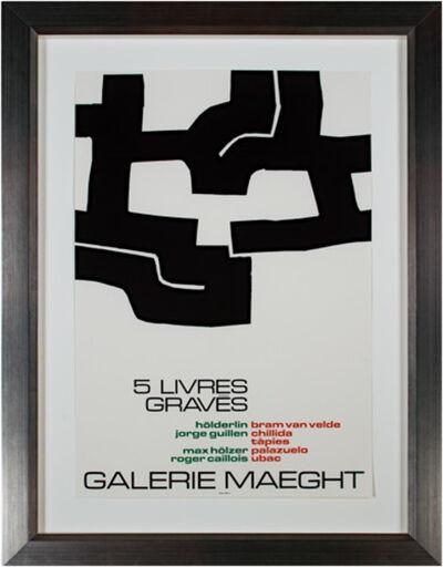 Eduardo Chillida, 'Galerie Maeght - 5 Livres Graves', 1973-74