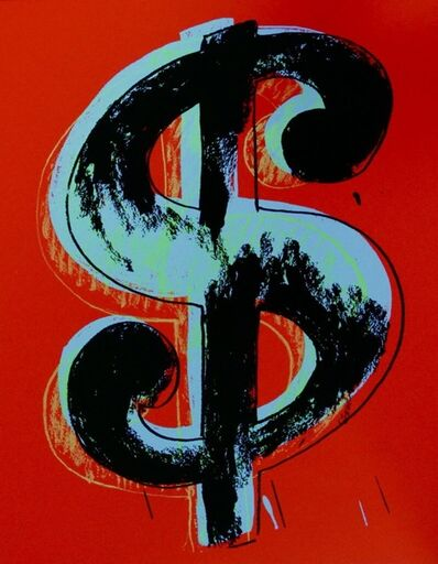 Andy Warhol, 'Dollar Sign, Red (Sunday B. Morning)', 2013