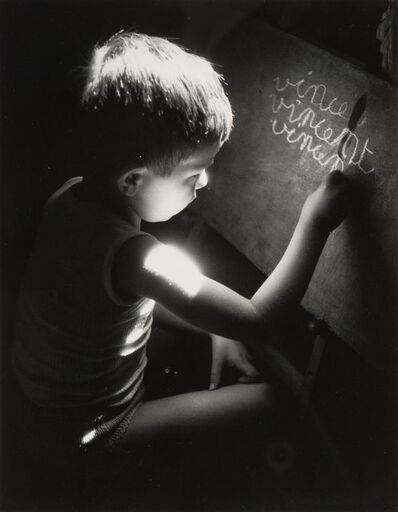 Willy Ronis, 'Vincent Writing at 5 Years Old', 1945