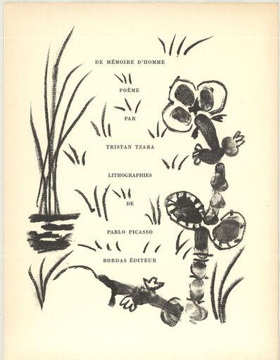 Pablo Picasso, 'De Memoire D'Homme I', 1950