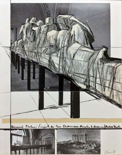 Christo and Jeanne-Claude, 'Wrapped Statues ( Project for Der Glyptotek in Munich Aagean Temple )', 1988