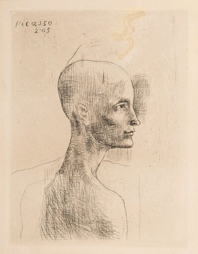 Pablo Picasso, 'Buste d'homme, from la suite des Saltimbanques', 1905