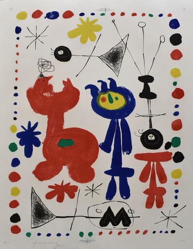 Joan Miró, 'Figure and Bird | Personnage et Oiseau', 1948
