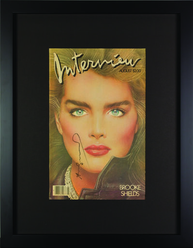 """Andy Warhol, 'Interview Magazine Signed by Andy Warhol """"Brook Shields""""', 1984"""